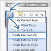 Choose Create Course Link from the '+' menu