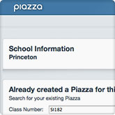 You should see the Piazza set up page and create a Piazza for your class